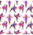 plus size black curvy girls doing yoga class vector image
