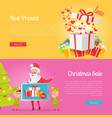 poster best presents with love and xmas sale vector image vector image