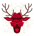 Print with deer in hipster style vector image