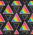 rainbow triangle seamless pattern vector image vector image