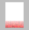 red diagonal square pattern page template vector image vector image