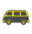 retro bus icon isolated on white background vector image