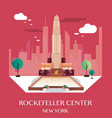 rockefeller center new york vector image vector image
