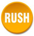 rush orange round flat isolated push button vector image vector image