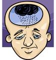 sad man concept cartoon vector image vector image