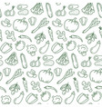 seamless pattern with vegetarian food vector image vector image