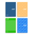 set abstract cards with layers overlap vector image vector image