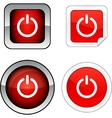 Switch button set vector | Price: 1 Credit (USD $1)