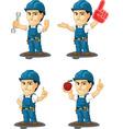 Technician or Repairman Mascot 10 vector image vector image
