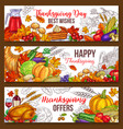 Thanksgiving day sketch harvest banners