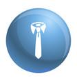 tie icon simple style vector image