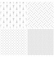 tile pattern set with print on grey background vector image vector image