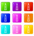 toothpaste in tube icons 9 set vector image vector image