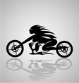 Tribal Motorcycle Girl vector image