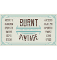 Vintage Retro Font with Sample Text Handcrafted vector image