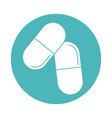 virus covid19 19 pandemic medicine capsule block vector image vector image