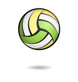 Volleyball with shadow vector image vector image