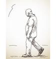 walking Man vector image