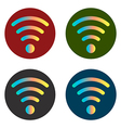 wi fi icon stickers vector image