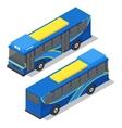 City Bus Isometric View vector image