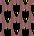 Hawk rushes into sky seamless pattern Black Eagle vector image