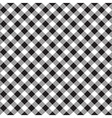 Black white checkerboard check diagonal fabric vector image