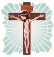 The Crucifixion of Jesus Christ vector image