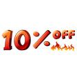 A ten percent off sale vector image vector image