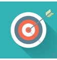 Aiming concept the arrow in bulls eye vector image vector image