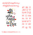 all you need is love modern calligraphy vintage vector image vector image