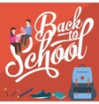back to school pencil college vector image vector image