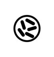 bacterium icon element of virus icon premium vector image vector image
