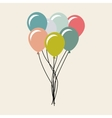 balloons air party celebration vector image vector image