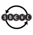 banking currency sign dollar bath euro yen and vector image