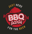 barbecue party logo template bbq print for t vector image vector image