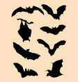 bats silhouette vector image vector image