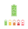 battery icons battery indicator icon set vector image