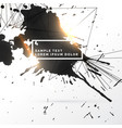 black ink splatter grungy background with network vector image vector image