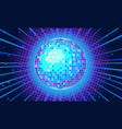 blue disco ball background vector image