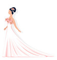 bride in lace dress vector image vector image