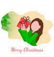 christmas flat style vector image