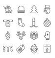 christmas icons - gifts discounts and decoration vector image vector image