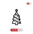 christmas tree icon winterxmas symbol flat sign vector image vector image