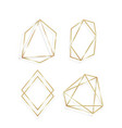 collection golden polygonal luxury frames vector image