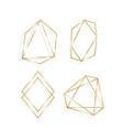 collection golden polygonal luxury frames vector image vector image
