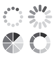 collection simple web preloaders in grayscale vector image