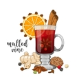 composition on white with mulled wine vector image vector image
