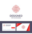 creative business card and logo template globe vector image