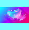 creative fluid shapes composition wallpaper vector image vector image
