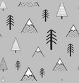 cute hand drawn seamless pattern with trees and vector image
